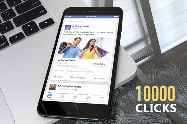FACEBOOK CLICK TO WEBSITE 10000 CLICKS