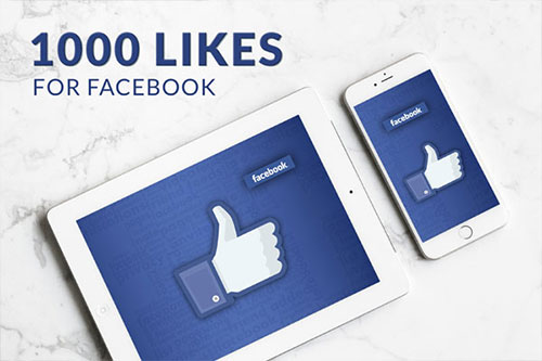 1000 Facebook likes Package