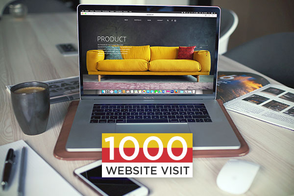1000 WEBSITE VISIT Package