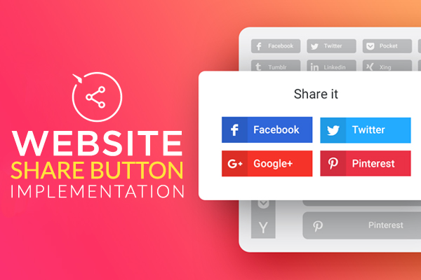 WEBSITE SHARE BUTTON INSTALL