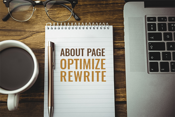 ABOUT PAGE OPTIMIZE REWRITE